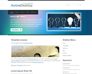AuroraDesktop Website Template