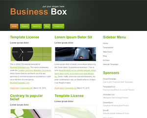 BusinessBox Website Template