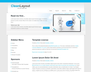 CleanLayout Website Template