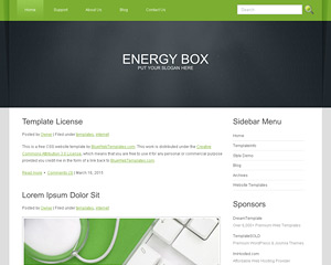 EnergyBox Website Template