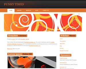 FunkyTimes Website Template