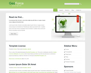 GeoForce Website Template