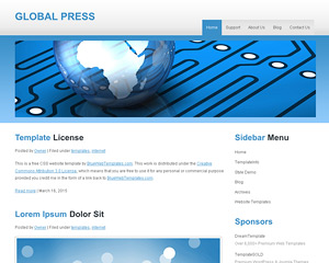 GlobalPress Website Template