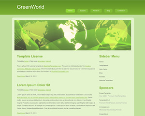 GreenWorld Website Template