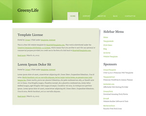 GreenyLife Website Template