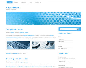 CleanBlue Website Template