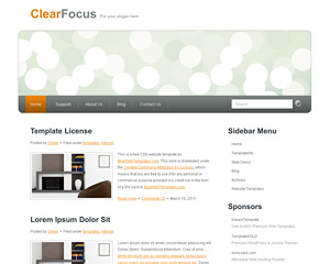 ClearFocus Website Template