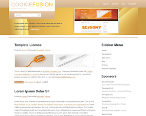 CookieFusion Website Template