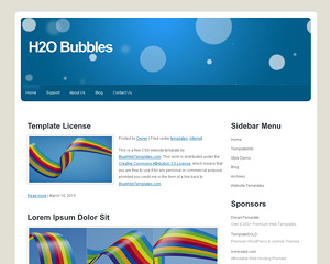 H2oBubbles Website Template